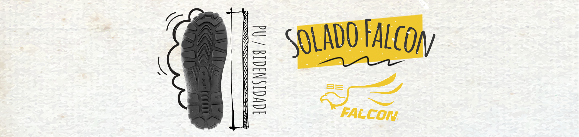 solado PU/PU safetline Falcon