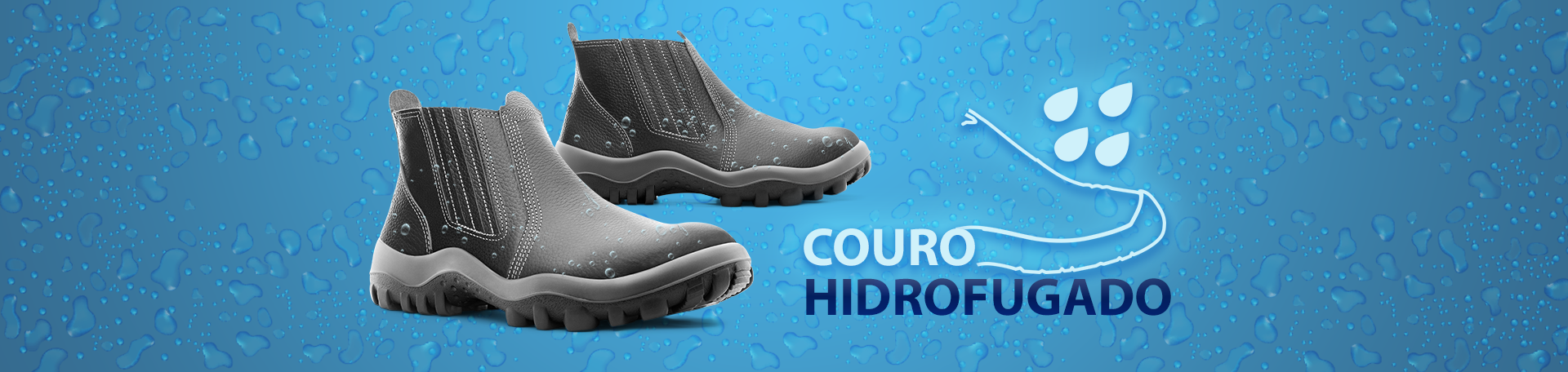 couro hidrofugado para calçado de segurança do trabalho