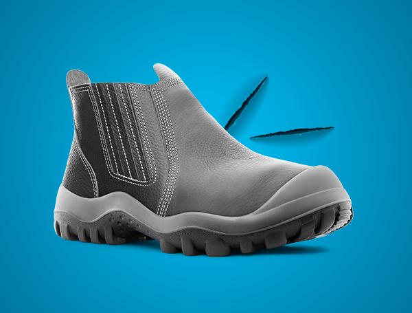 calçado de segurança resistente ao corte