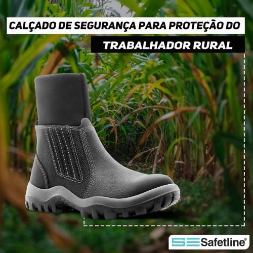 Calçados de segurança para proteção do trabalhador rural